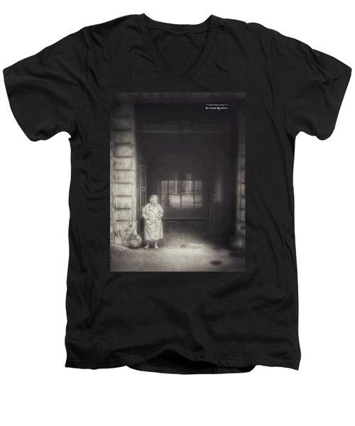 Men's V-Neck T-Shirt featuring the photograph A Long Boring Wait... by Stwayne Keubrick