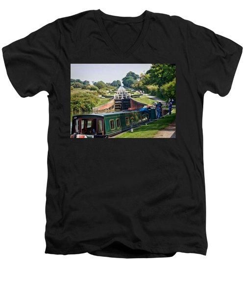 A Long Climb Men's V-Neck T-Shirt