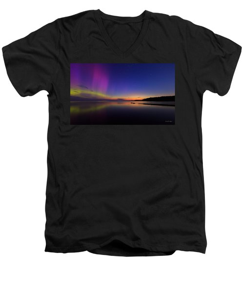 A Majestic Sky Men's V-Neck T-Shirt