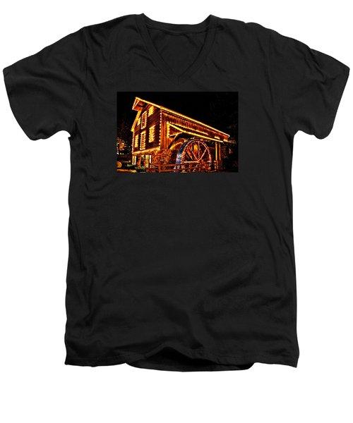 A Mill In Lights Men's V-Neck T-Shirt by DJ Florek