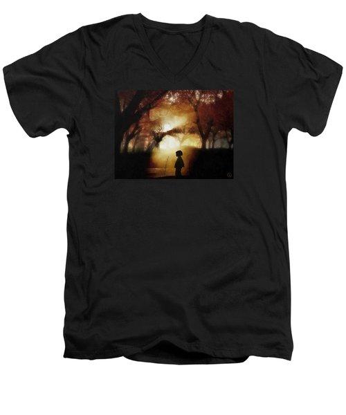 A Moment Beyond Time Men's V-Neck T-Shirt by Gun Legler