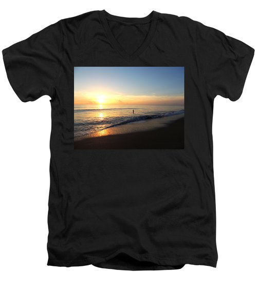 A New Day Begins Men's V-Neck T-Shirt