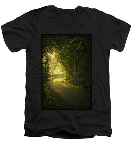 A Path To The Light Men's V-Neck T-Shirt