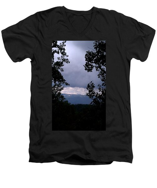 Men's V-Neck T-Shirt featuring the photograph A Peek At Heaven by Fortunate Findings Shirley Dickerson