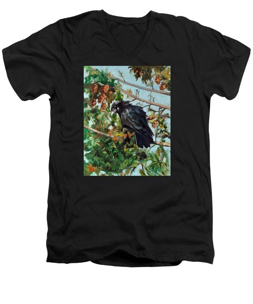 A Perch For Nevermore Men's V-Neck T-Shirt