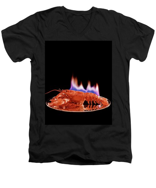 A Plate Of Lobster Flambe Men's V-Neck T-Shirt