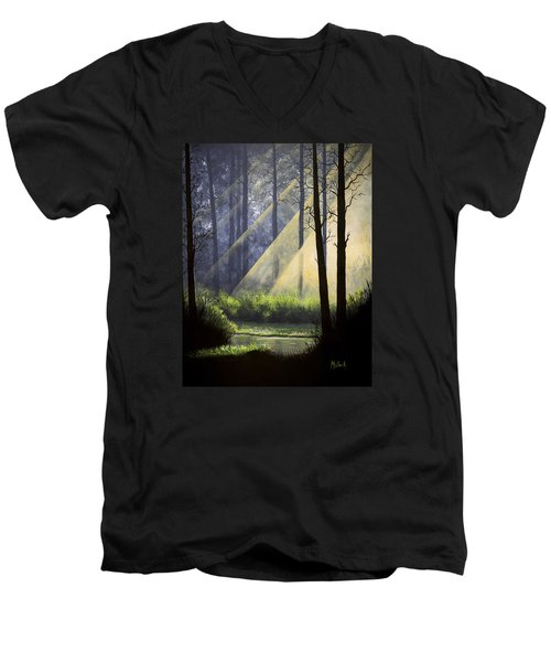 A Quiet Place Men's V-Neck T-Shirt by Jack Malloch