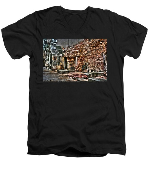 Men's V-Neck T-Shirt featuring the photograph A Quiet Place To Pray by Doc Braham