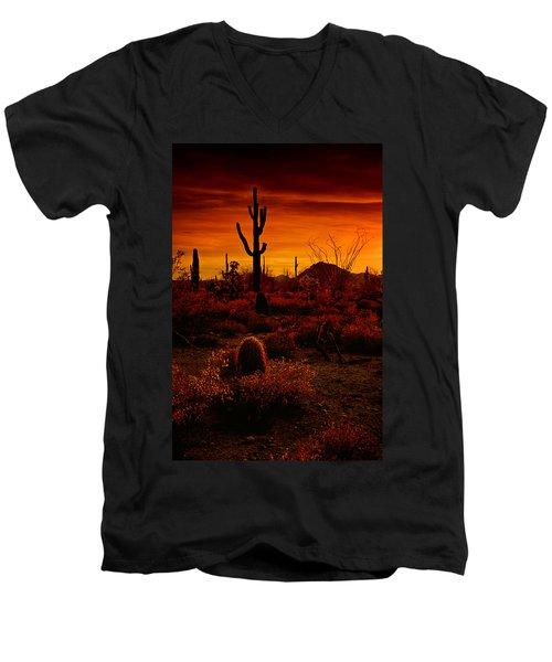 A Red Desert  Men's V-Neck T-Shirt