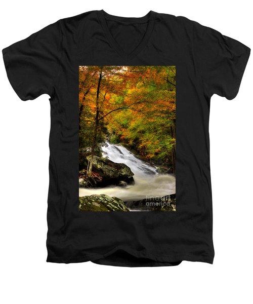 A River Runs Through It Men's V-Neck T-Shirt by Michael Eingle