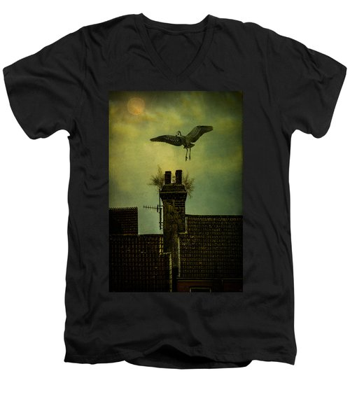 Men's V-Neck T-Shirt featuring the photograph A Room For The Night by Chris Lord