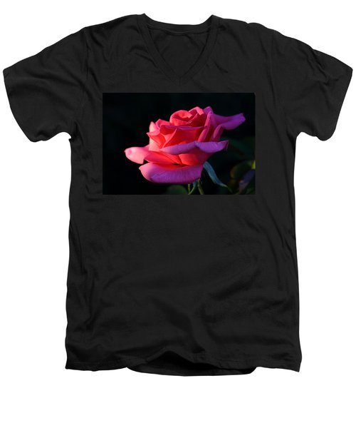 Men's V-Neck T-Shirt featuring the photograph A Rose Is A Rose by David Andersen