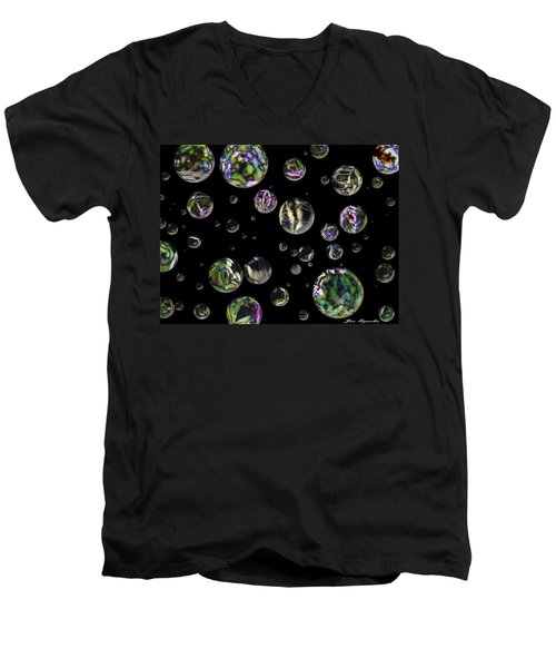 A Round Men's V-Neck T-Shirt