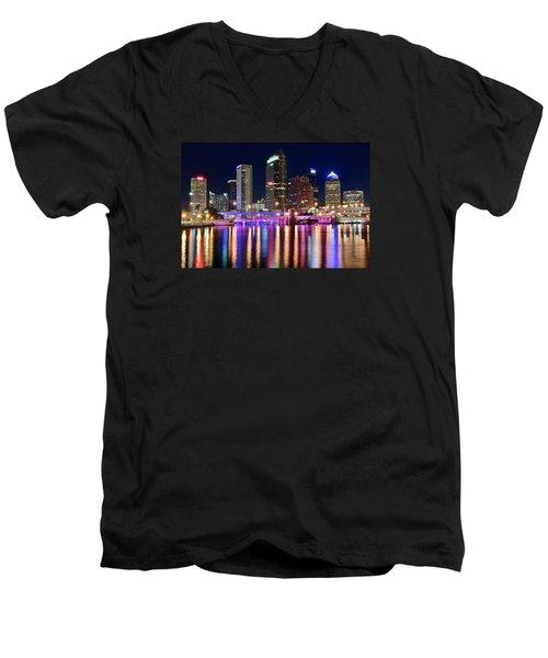 A Tampa Bay Night Men's V-Neck T-Shirt