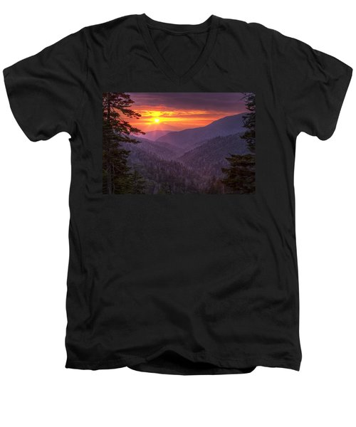 A View At Sunset Men's V-Neck T-Shirt by Andrew Soundarajan