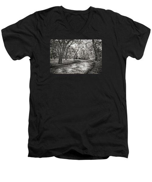 A Walk In The Park Men's V-Neck T-Shirt by Darryl Dalton