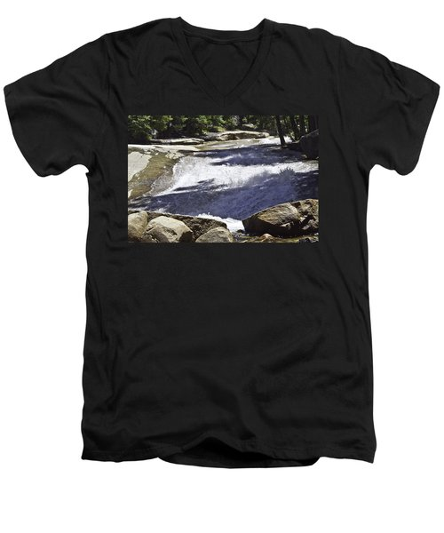Men's V-Neck T-Shirt featuring the photograph A Water Slide by Brian Williamson