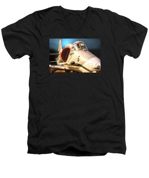 A4 Skyhawk Attack Jet Men's V-Neck T-Shirt