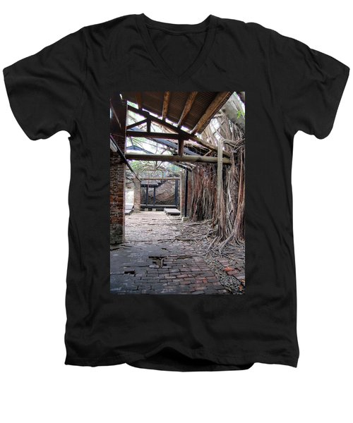 Abandon Warehouse  Men's V-Neck T-Shirt
