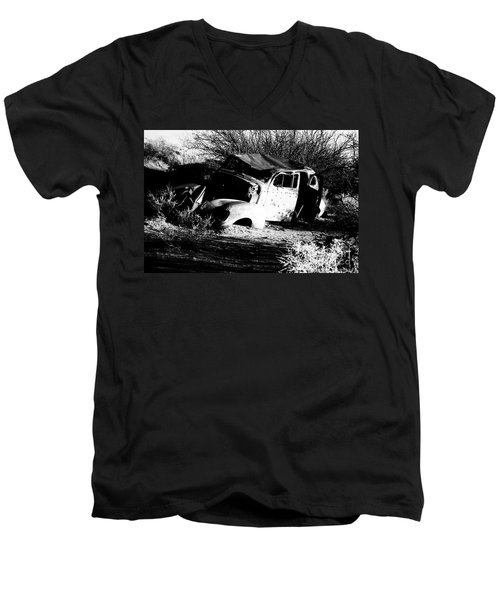 Men's V-Neck T-Shirt featuring the photograph Abandoned by Jessica Shelton