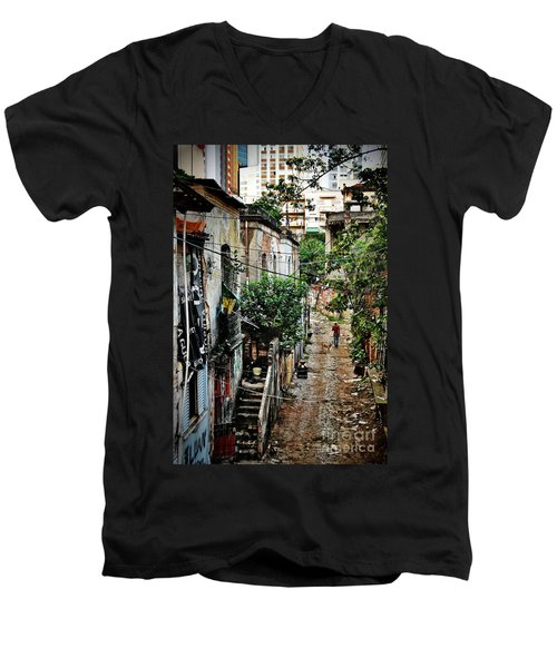 Abandoned Place In Sao Paulo Men's V-Neck T-Shirt