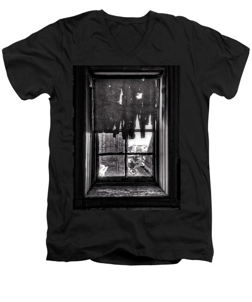 Abandoned Window Men's V-Neck T-Shirt by H James Hoff