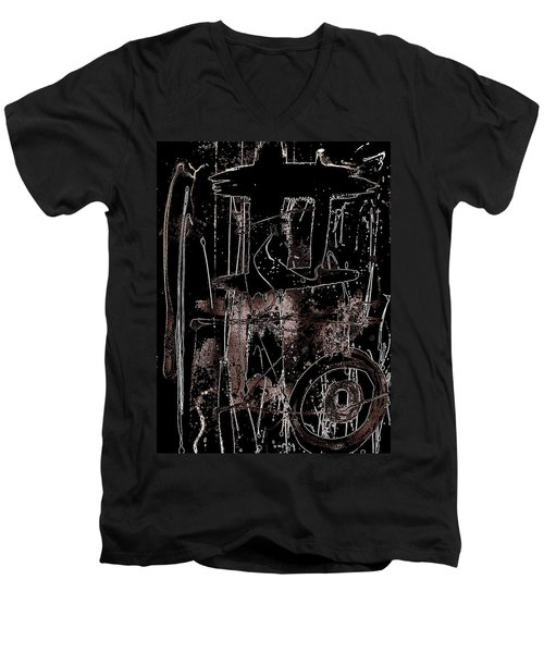 Abidjan Men's V-Neck T-Shirt by Cleaster Cotton