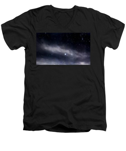 Men's V-Neck T-Shirt featuring the photograph Above by Angela J Wright