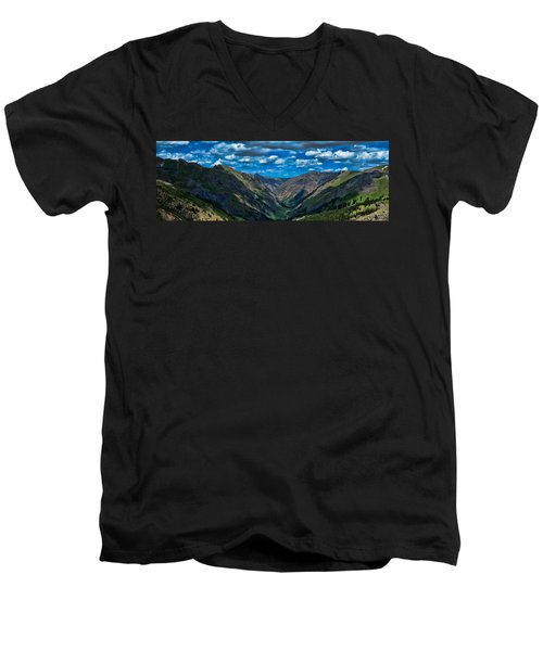 Men's V-Neck T-Shirt featuring the photograph Above It All by Don Schwartz
