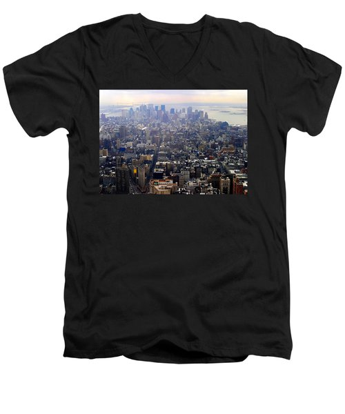 Above New York Men's V-Neck T-Shirt