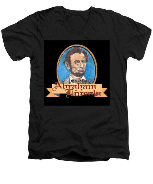 Abraham Lincoln Graphic Men's V-Neck T-Shirt by John Keaton