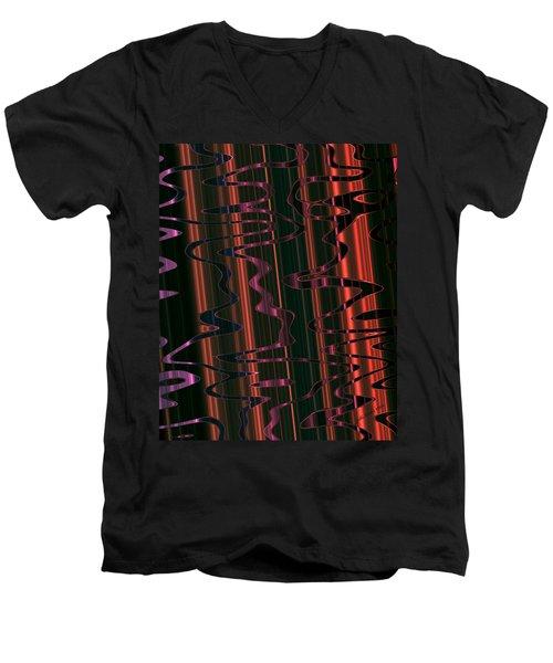 Abstract 327 Men's V-Neck T-Shirt