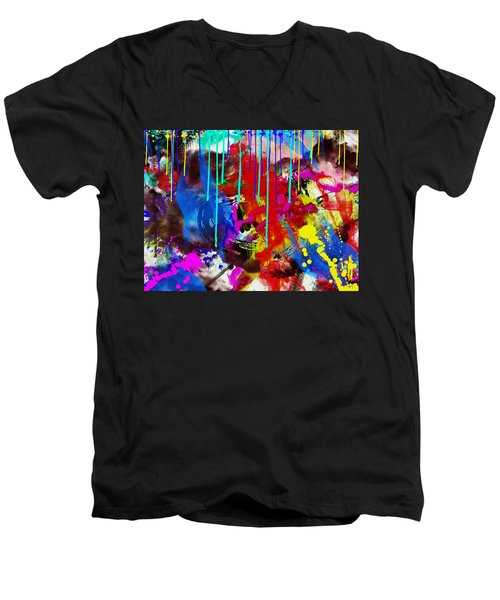 Abstract 6832 Men's V-Neck T-Shirt