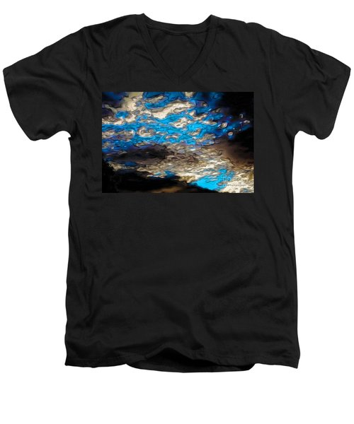 Abstract Clouds Men's V-Neck T-Shirt by Claudia Ellis