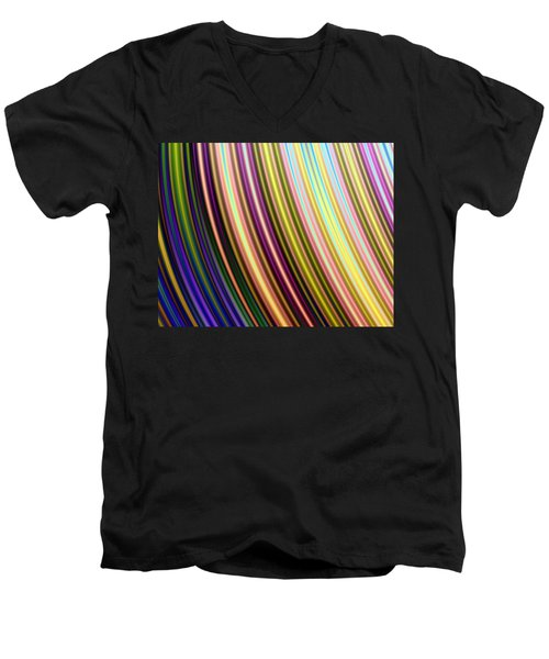 Abstract Colours Men's V-Neck T-Shirt