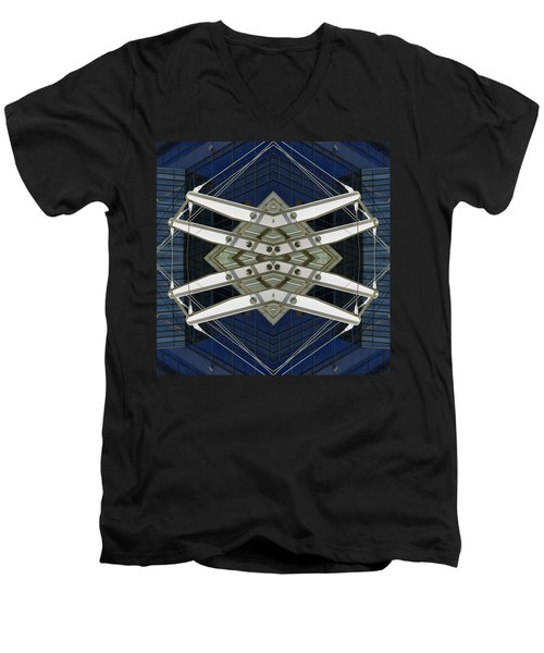 Abstract Construction Men's V-Neck T-Shirt