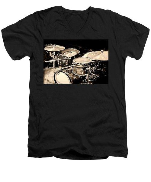 Abstract Drum Set Men's V-Neck T-Shirt
