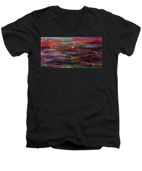 Abstract In Reflection Men's V-Neck T-Shirt