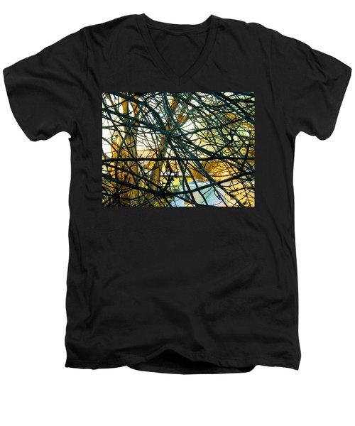Abstract Tree Men's V-Neck T-Shirt