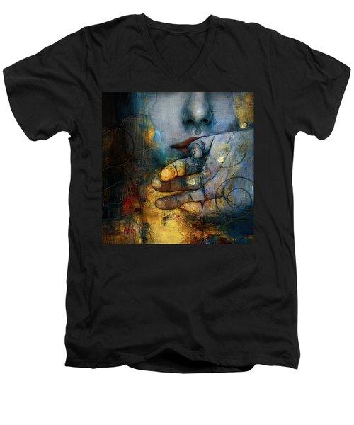 Abstract Woman 011 Men's V-Neck T-Shirt