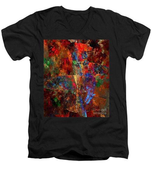 Abstraction 0393 Marucii Men's V-Neck T-Shirt