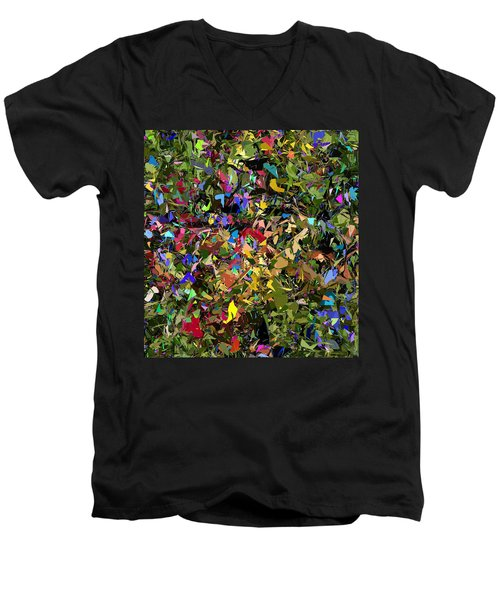 Abstraction 2 0211315 Men's V-Neck T-Shirt by David Lane