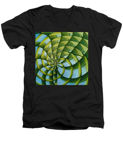 Abstraction A La M. C. Escher Men's V-Neck T-Shirt