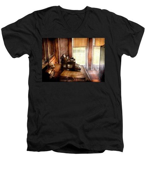 Accountant - My Little Office  Men's V-Neck T-Shirt