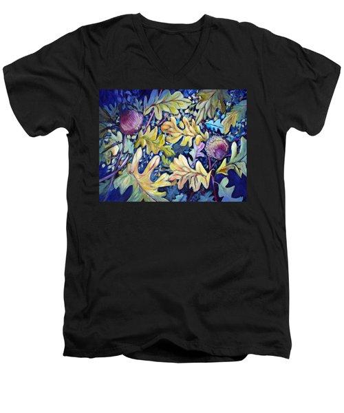 Acorns And Oak Leaves Men's V-Neck T-Shirt