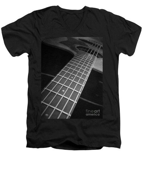 Acoustic Guitar Men's V-Neck T-Shirt