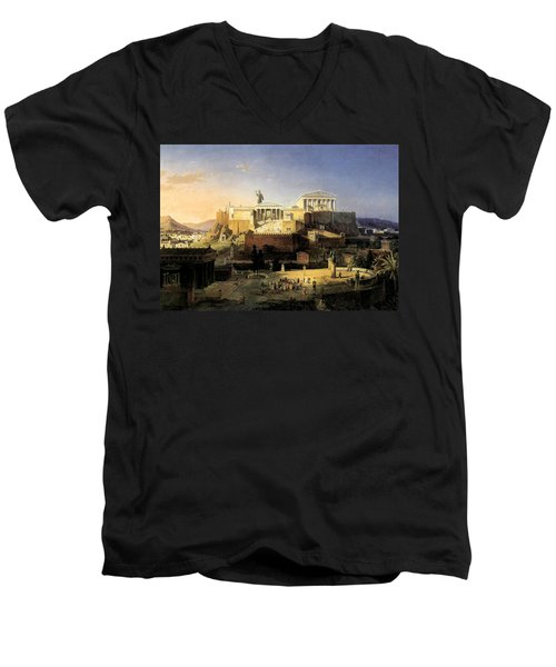 Acropolis Of Athens Men's V-Neck T-Shirt