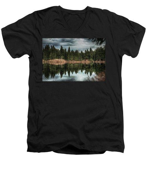 Across The Lake Men's V-Neck T-Shirt