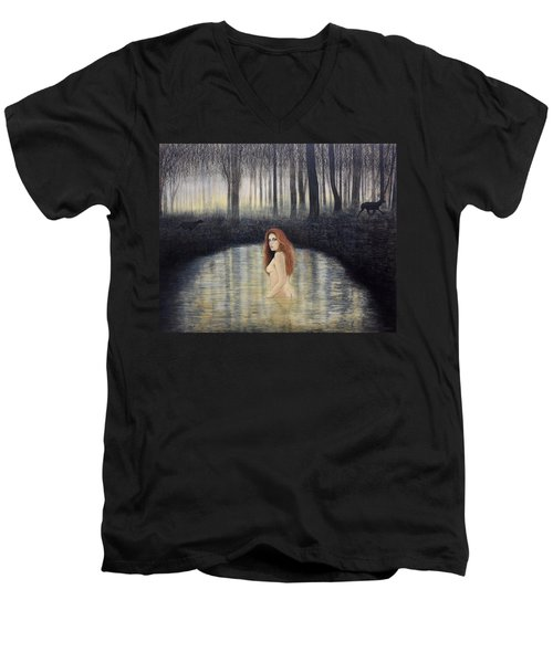 Actaeon And Artemis Men's V-Neck T-Shirt