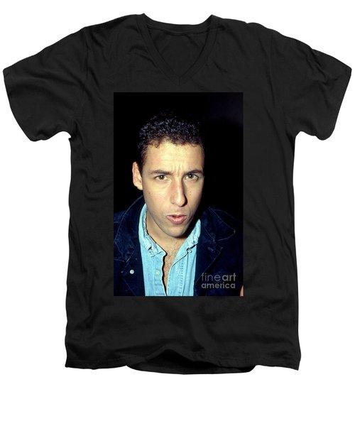 Adam Sandler 1991 Men's V-Neck T-Shirt by Ed Weidman